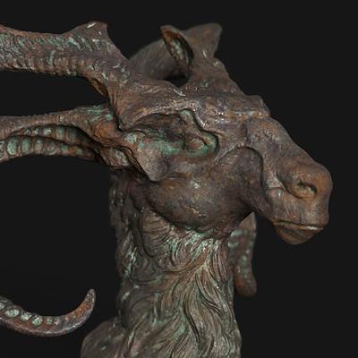 Pablo munoz gomez creature bust rust metal02
