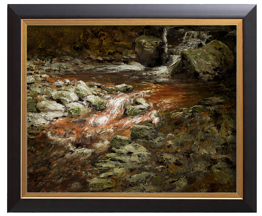 Arthur haas waterfall ivb framed small