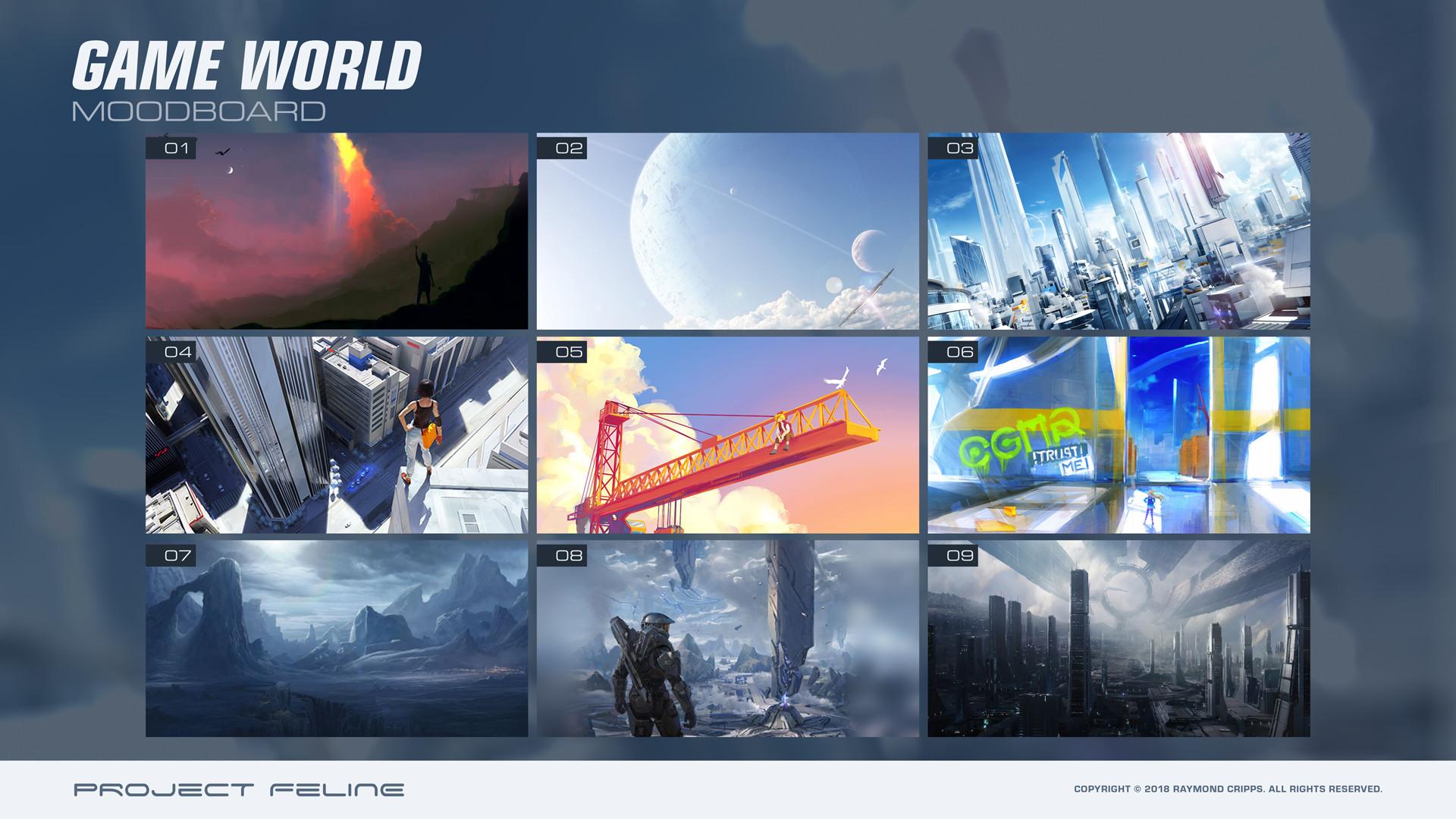 Raymond cripps gameworld moodboard