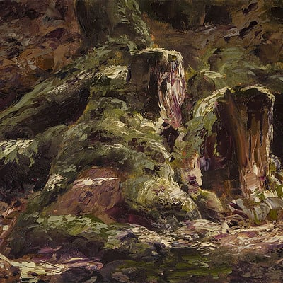 "Tree stumps -for sale 9.4x11.8"" (24x30cm)"