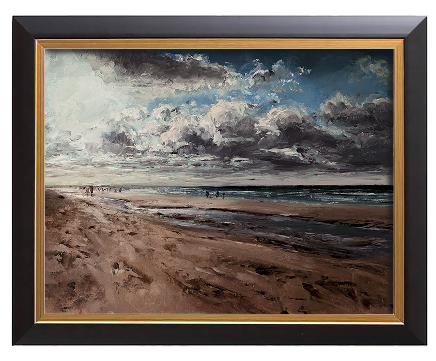 Arthur haas cloudy beach framed small