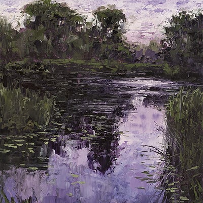 "Evening light -for sale 15.7x11.8"" (40x30cm)"