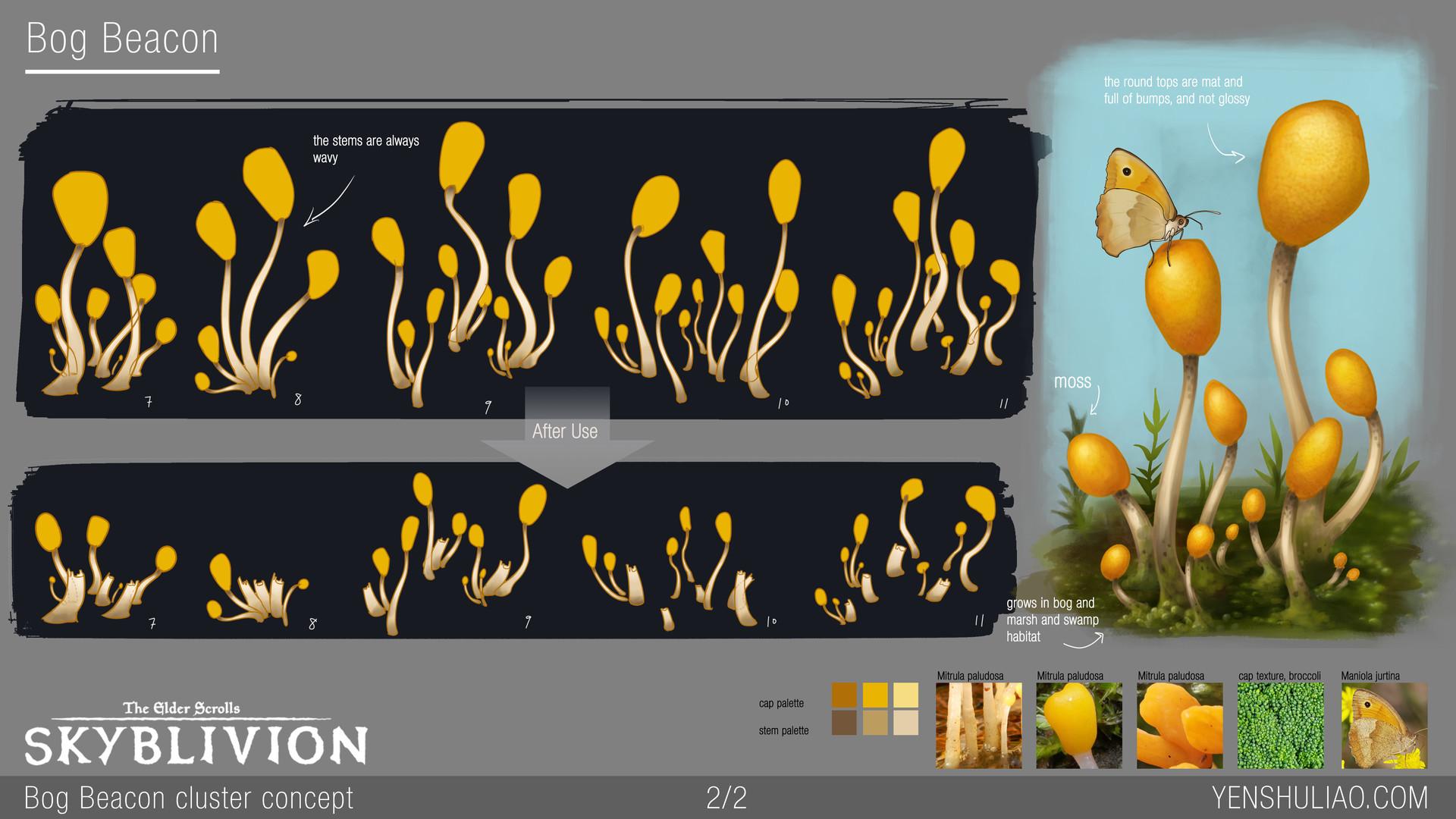 Yen shu liao mushroom environment prop concept yen shu liao skyblivion 02