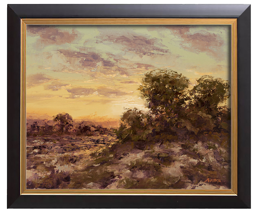 Arthur haas sunset heath framed small