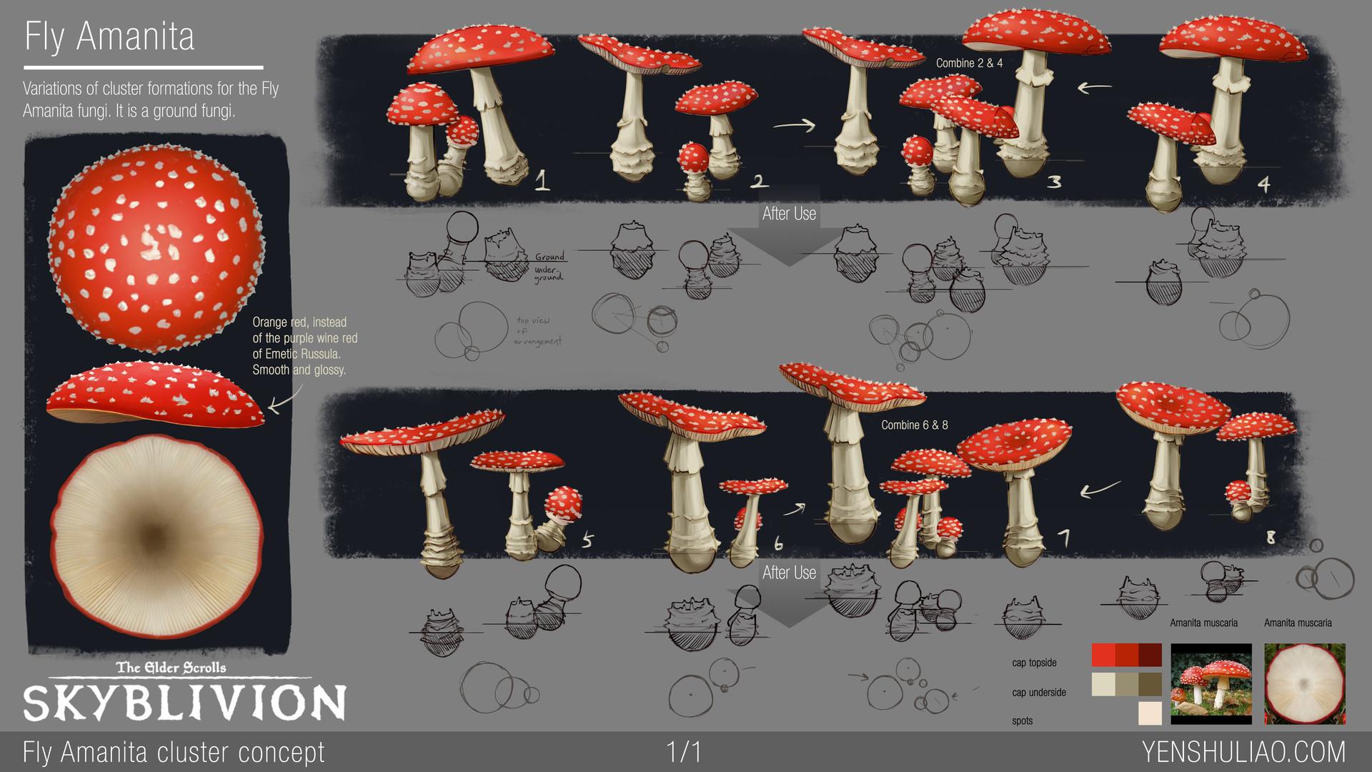 Yen shu liao mushroom environment prop concept yen shu liao skyblivion flyamanita