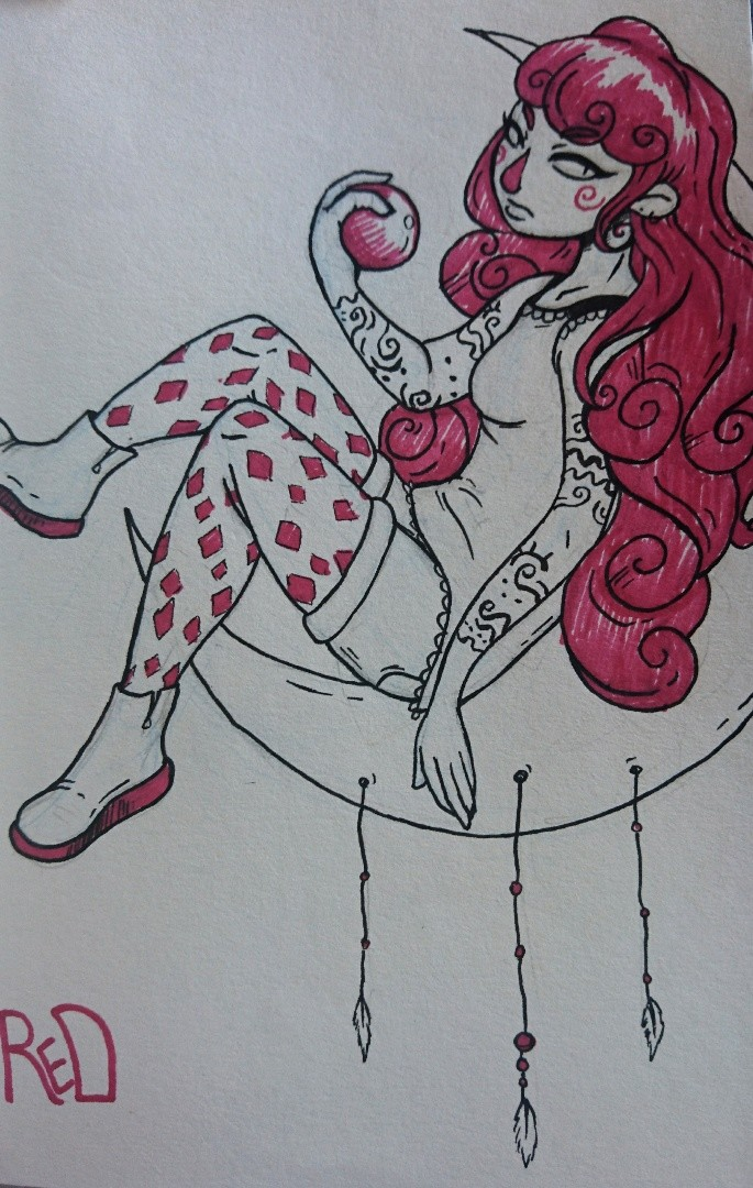 Amy seaman coloursketch red