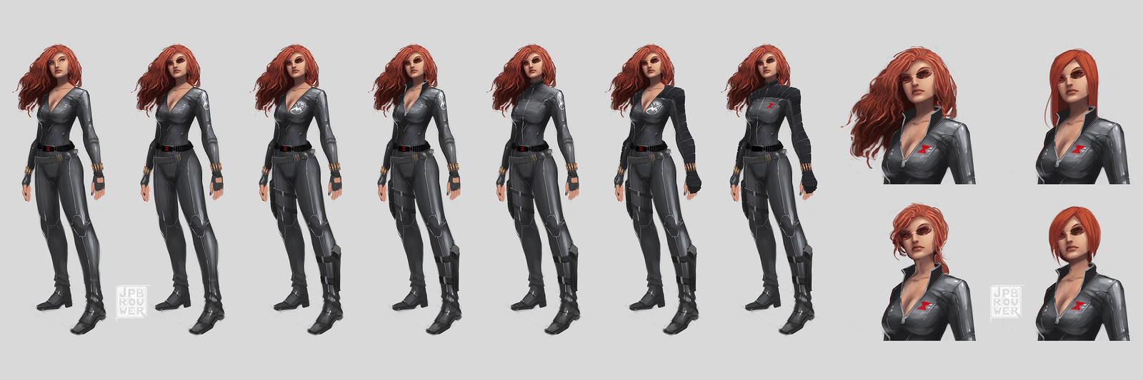 Black Widow character and costume concepts