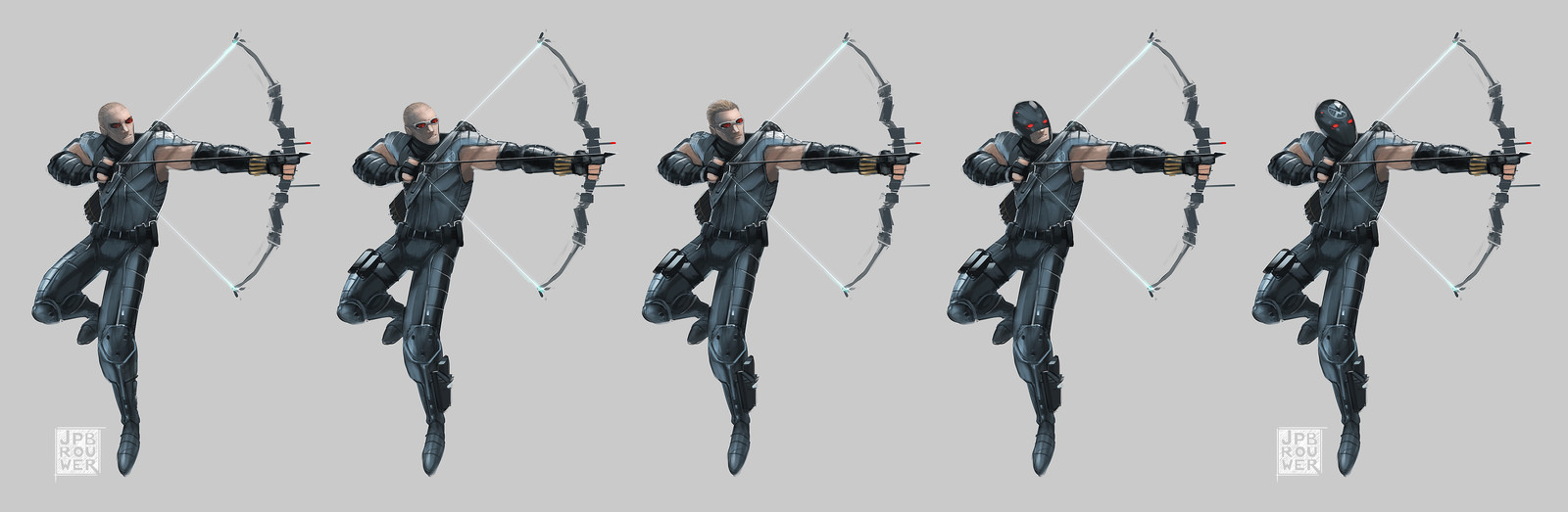 Hawkeye character and costume concepts