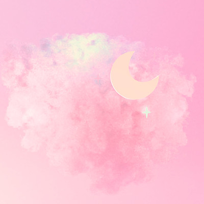Tzuyu kao art station pink cotton candy clouds and moon 1223ss1
