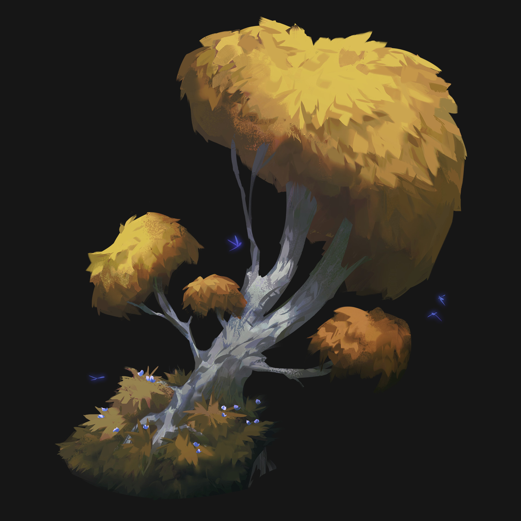 Iris muddy yellowtree
