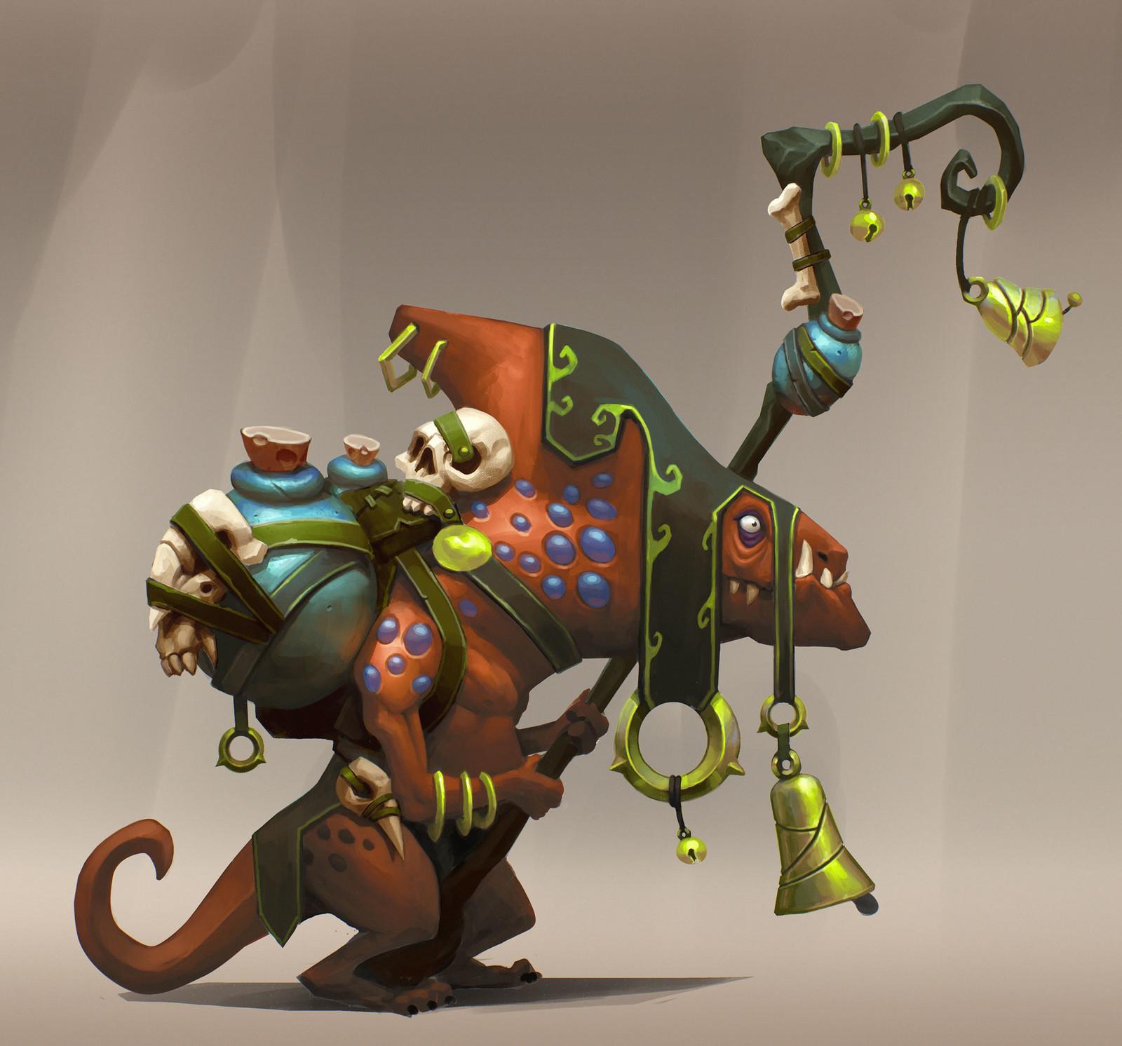 Witch doctor Lizardman