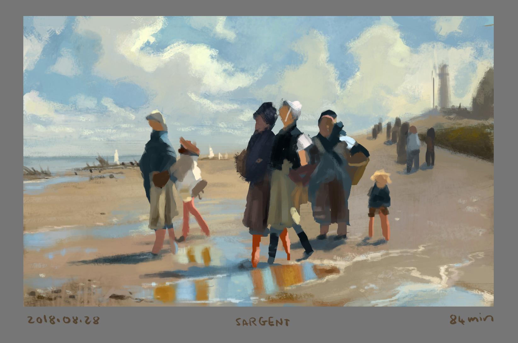 John Signer Sargent painting study.