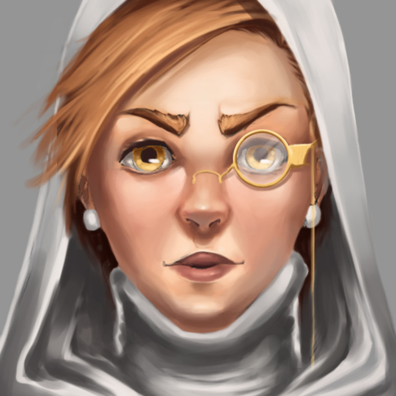 Sophia, the Nun - Main Character concept #2