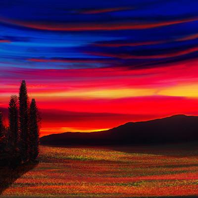 Nathaniel tintinger evening sky