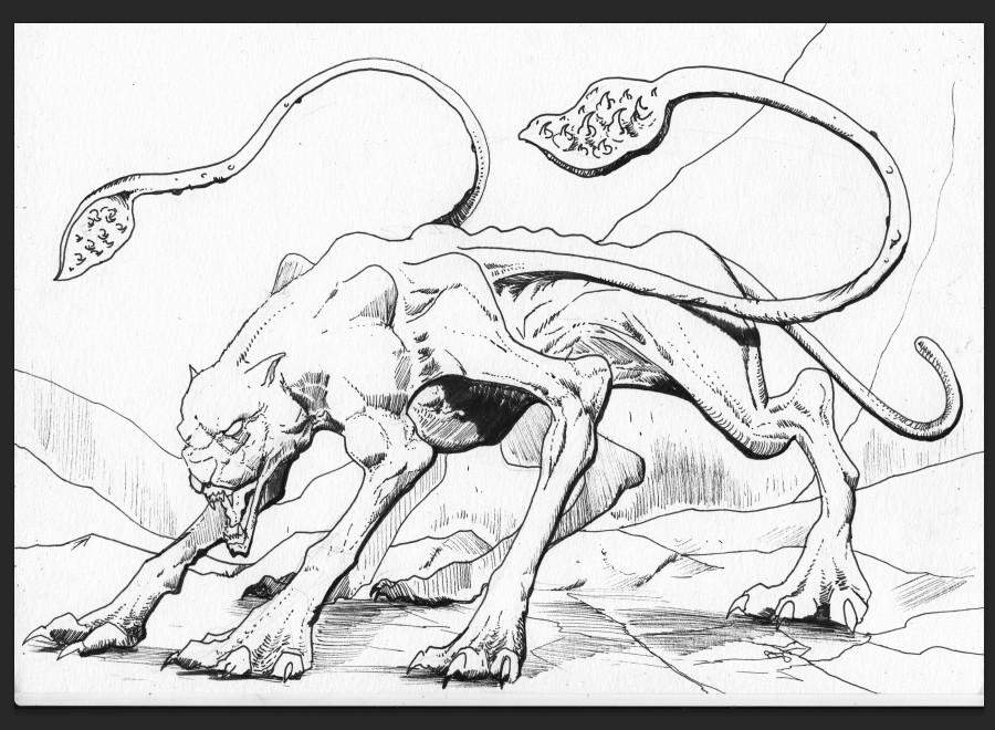 Dungeons and Dragons Monsters in Inks