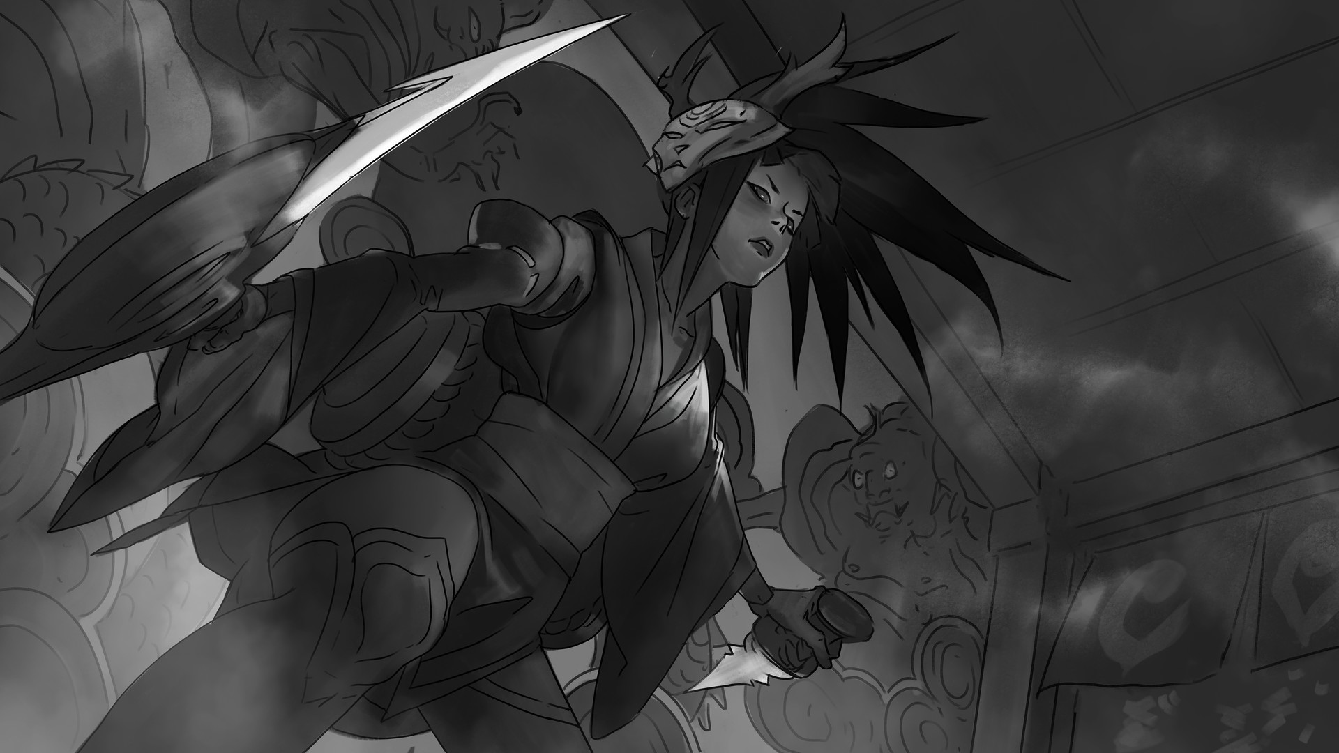 Zeen chin blood moon akali sketch003