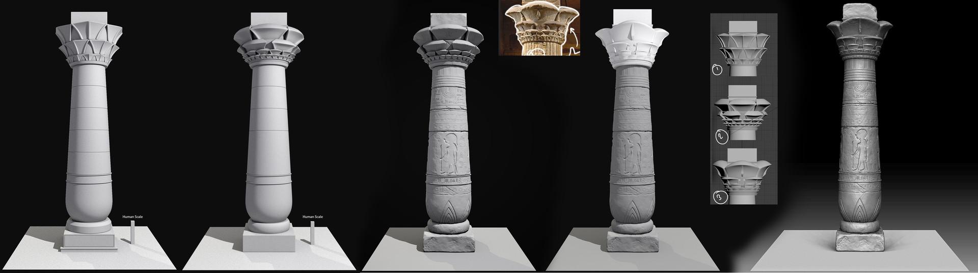 Pablo artime egyptian pillar process