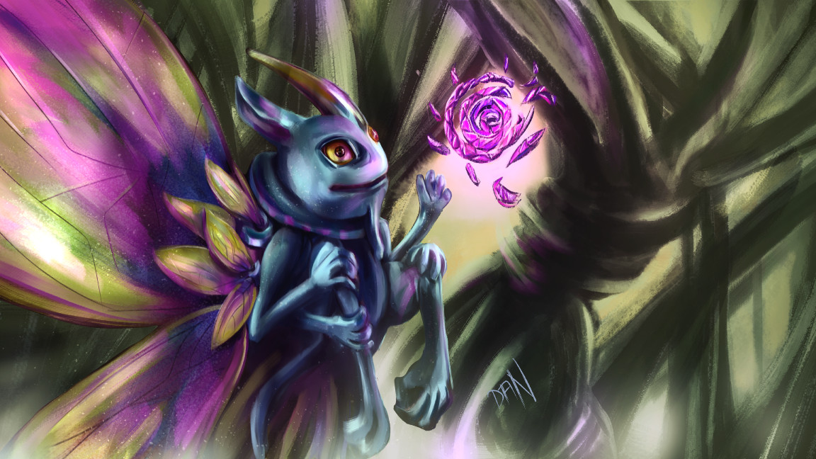 Fanart - Dota 2 | Puck, the Faerie Dragon -  Loading Screen