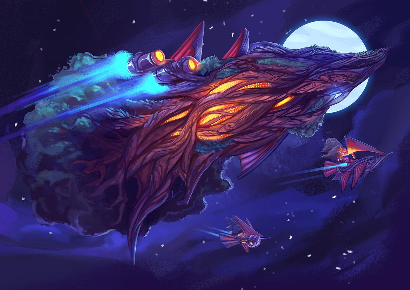Elvish tree ship