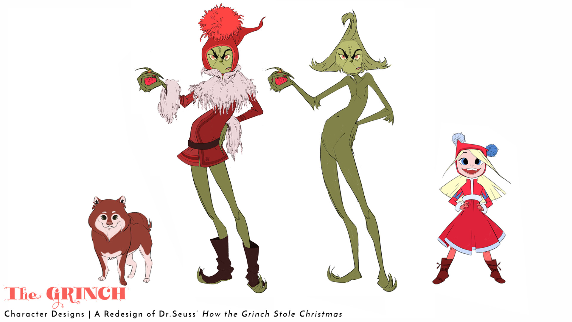 How The Grinch Stole Christmas Characters Animated.Kim Greenough How The Grinch Stole Christmas Redesign