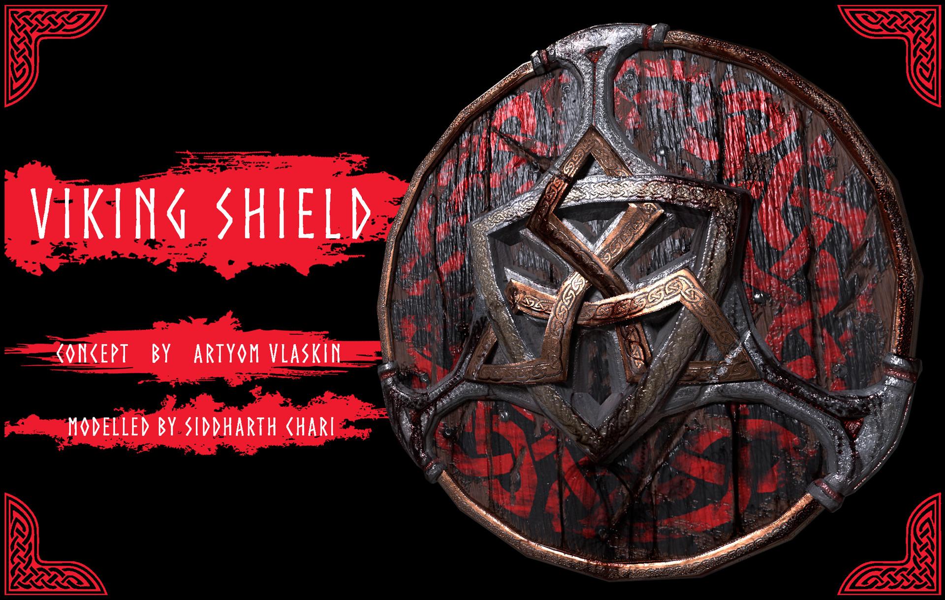 Artstation Viking Shield Siddharth Chari