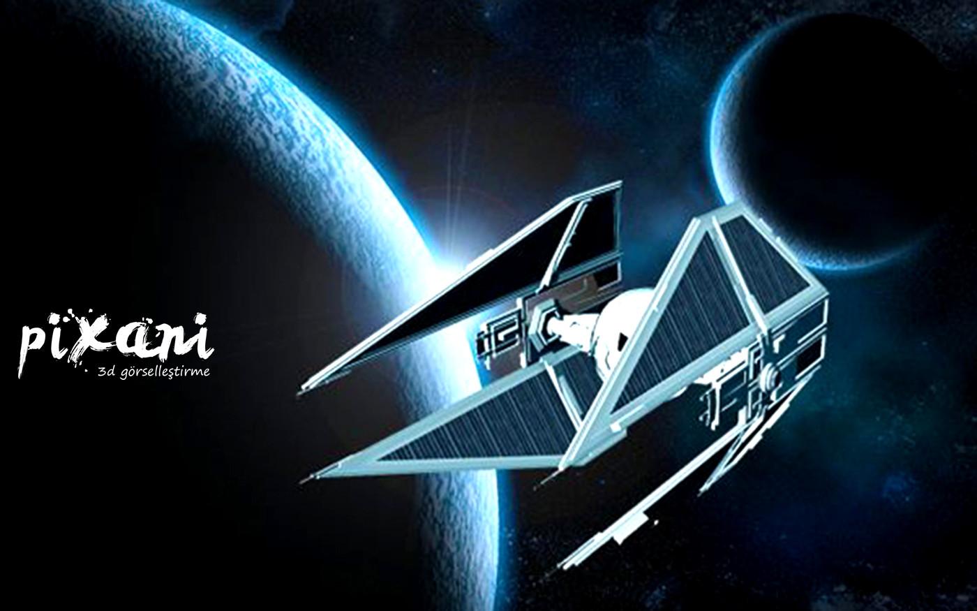 A spacecraft design by Pixani Studios 4 spacecraft wings with solar panels 1 spaceship platform and engine platform