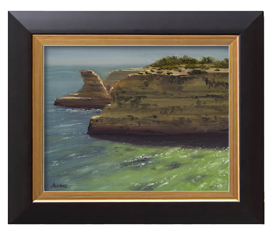Arthur haas fontainhas beach framed small