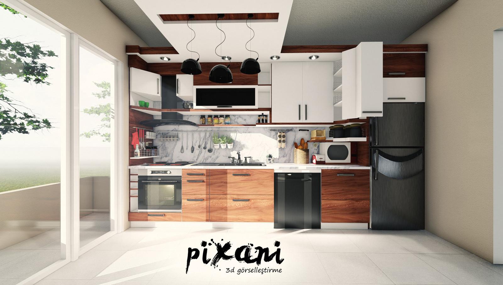 KITCHEN DESIGN 1 Architect & CG Artist : Serdar Çakmak rendered and designed in Pixani Studios www.pix-ani.com
