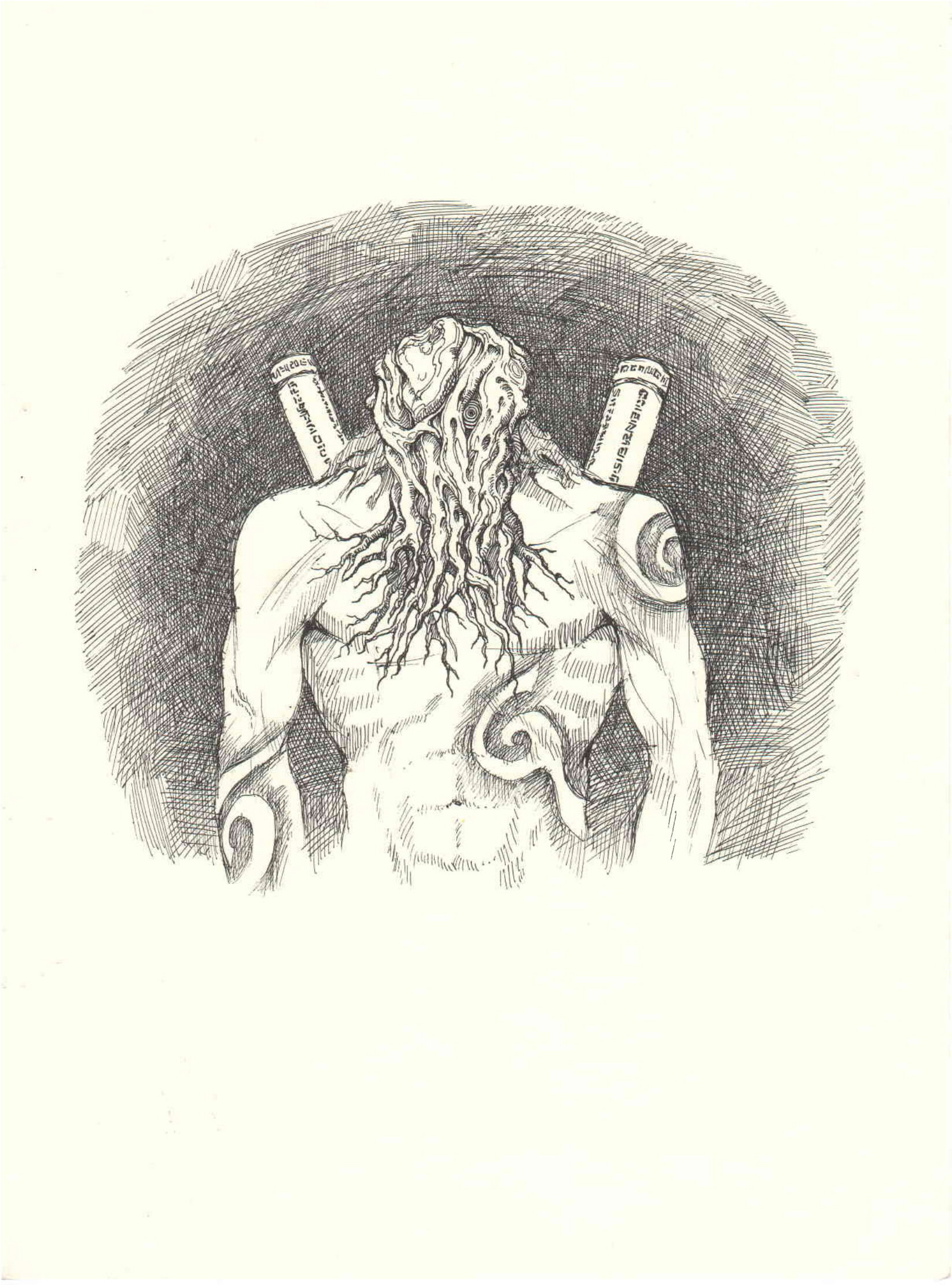 Lee Dabeen. Concept Art – The King's Familiar Spirit. 2018. Pen on paper, 282 x 210 mm.