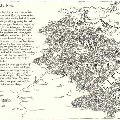 David lee concept art map of tales