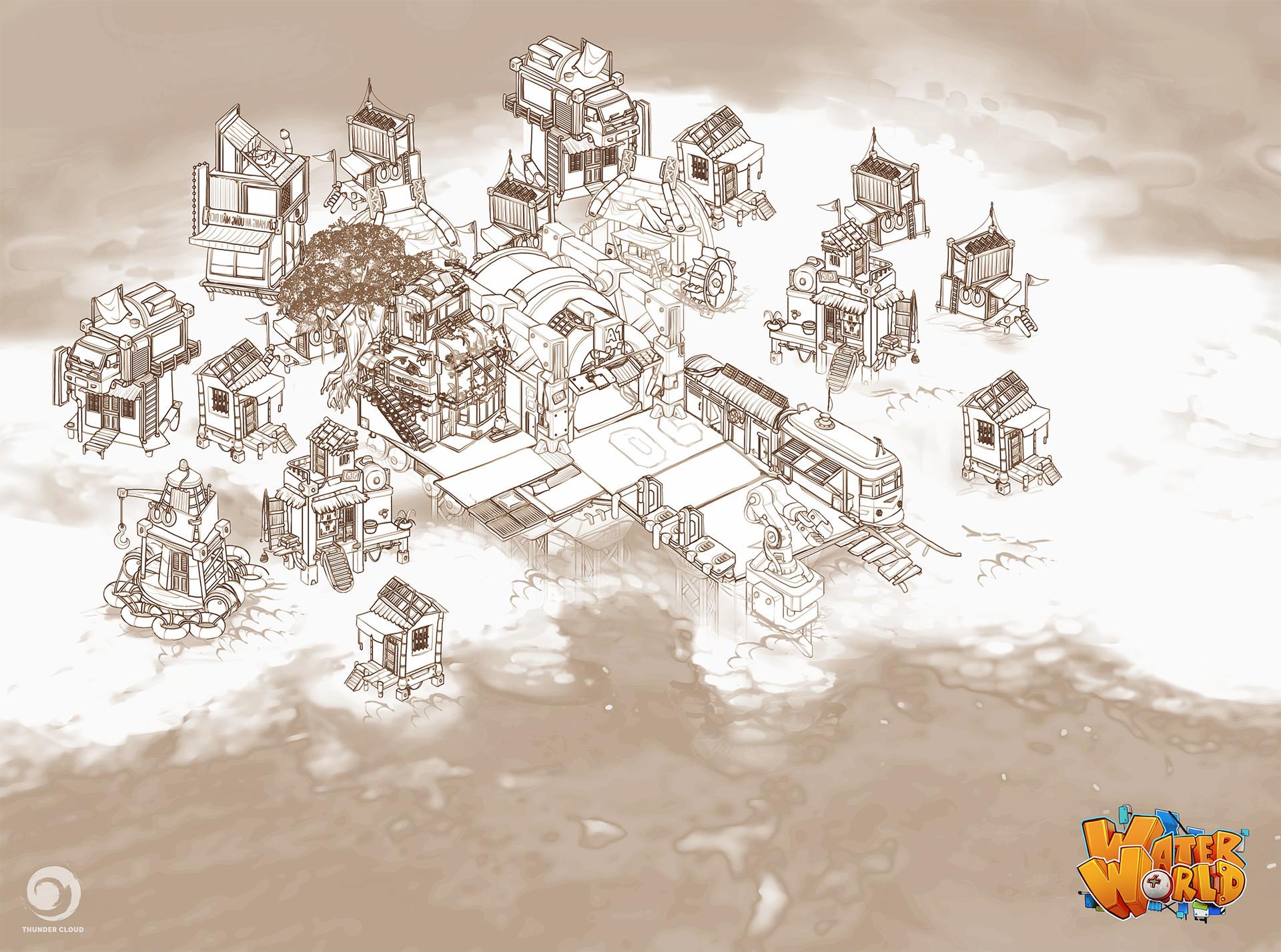 Thunder cloud floatingtown s1concept v006 sketches