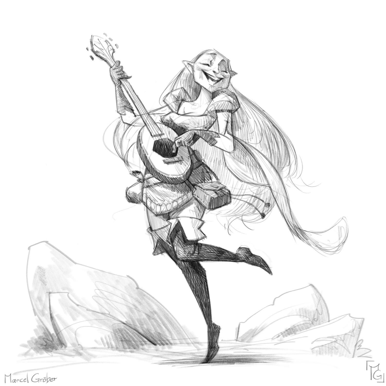 Elysa, Song-sorceress and master of the mandolin