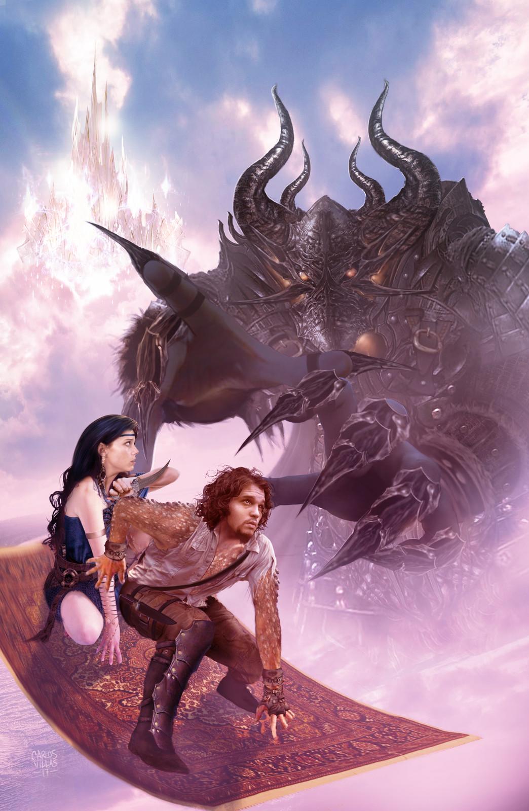 BATTLE DRAGONS COVER ILLUSTRATION