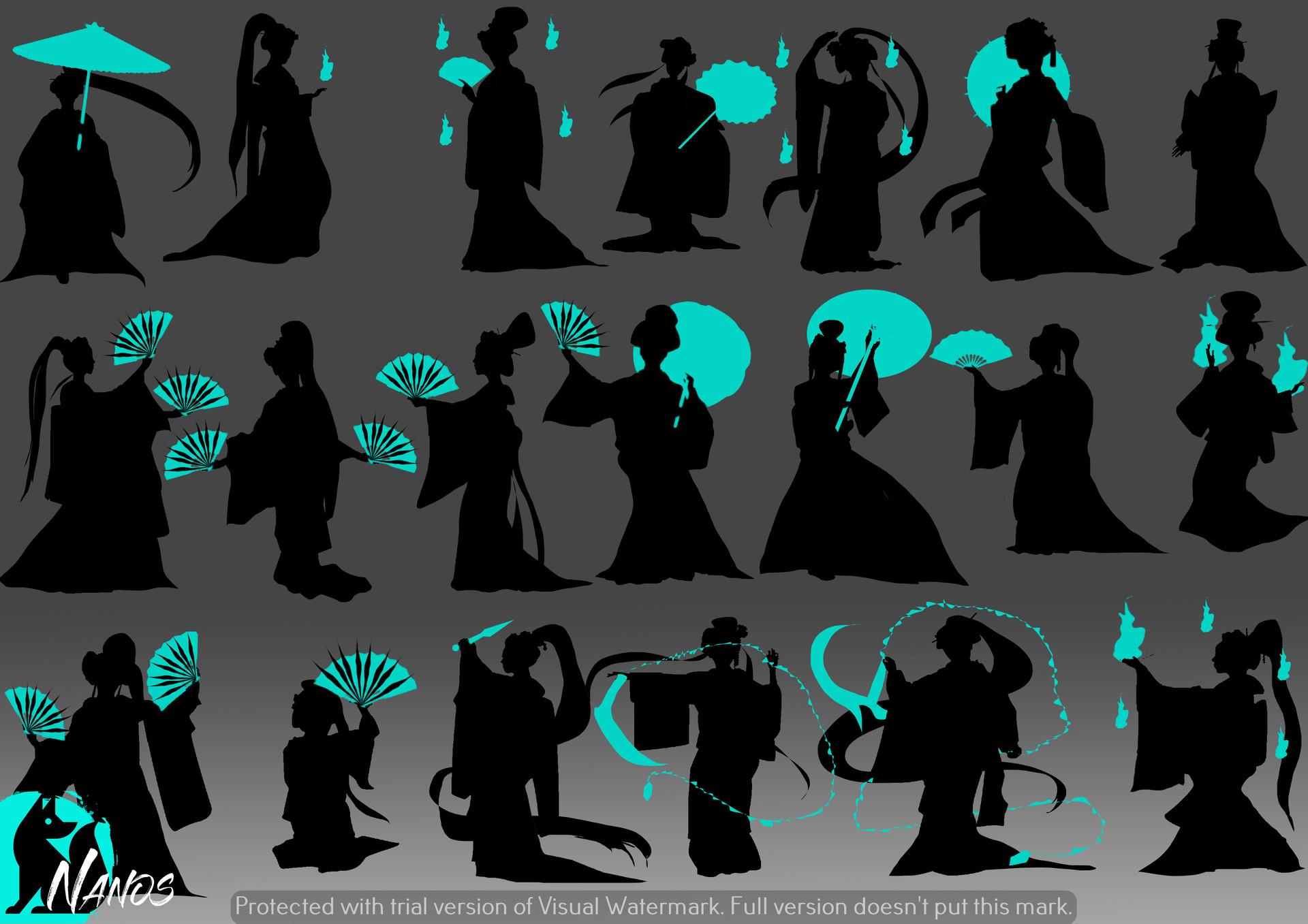 ArtStation - Lady Seinharu Kitsune Silhouette - Enigma