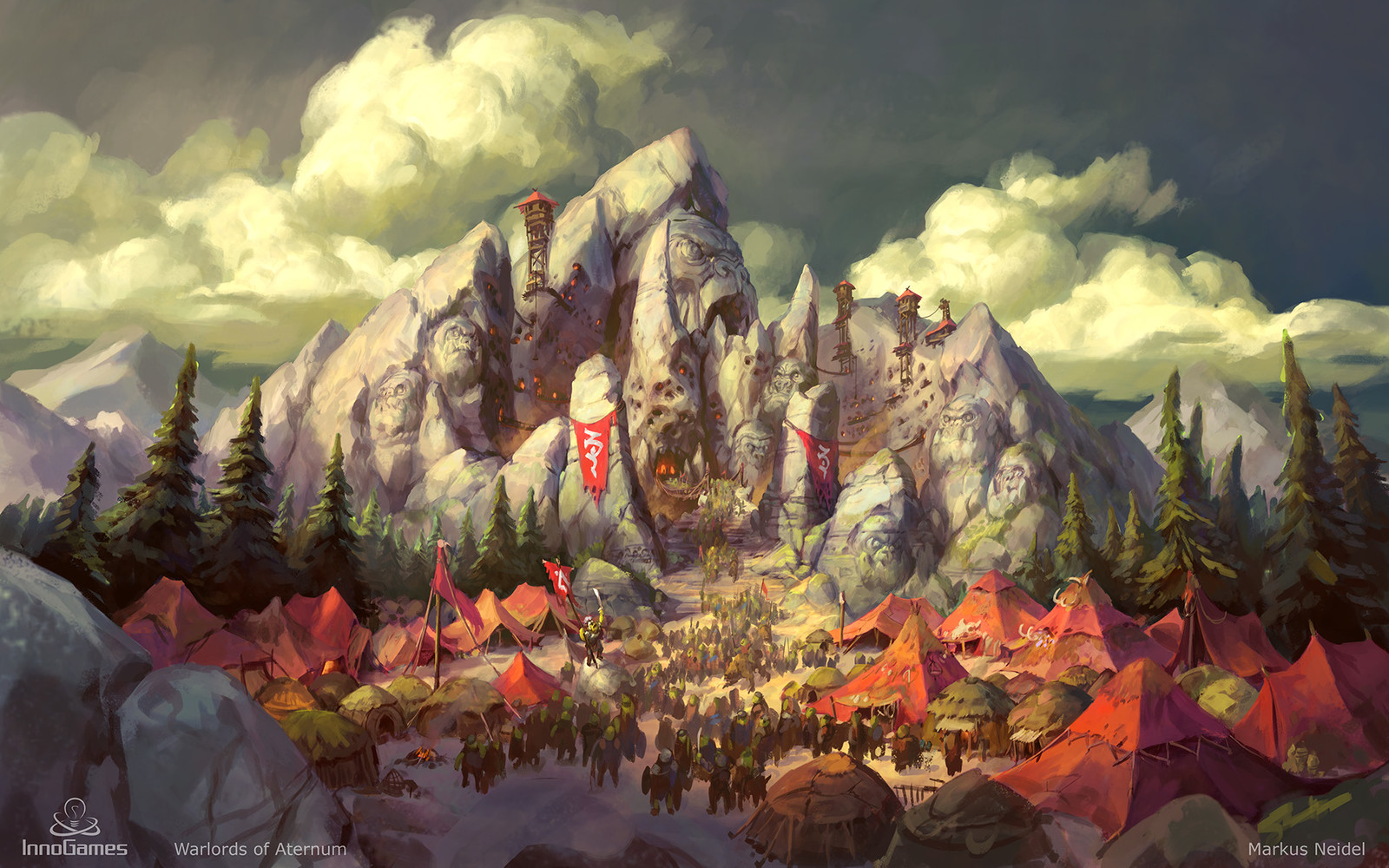 Warlords of Aternum - Orc Stronghold