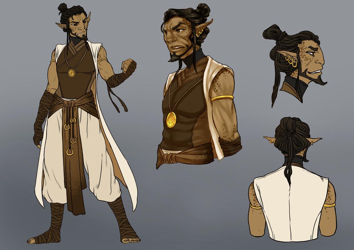 Sargas, renegade monk of the Transcendent Order