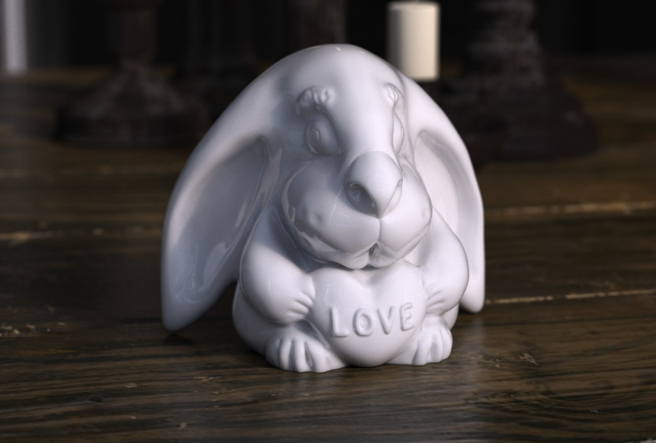 Rabbit 3d print model for CGTrader