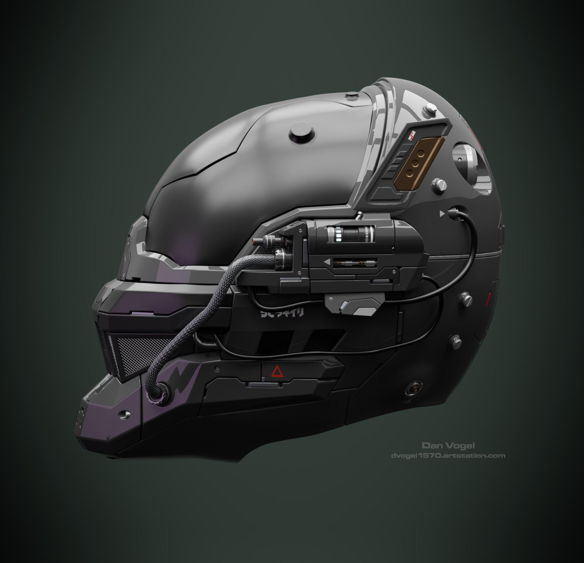 ArtStation - Concept Robot Head/Helmet - 3D Sculpt, Daniel Vogel
