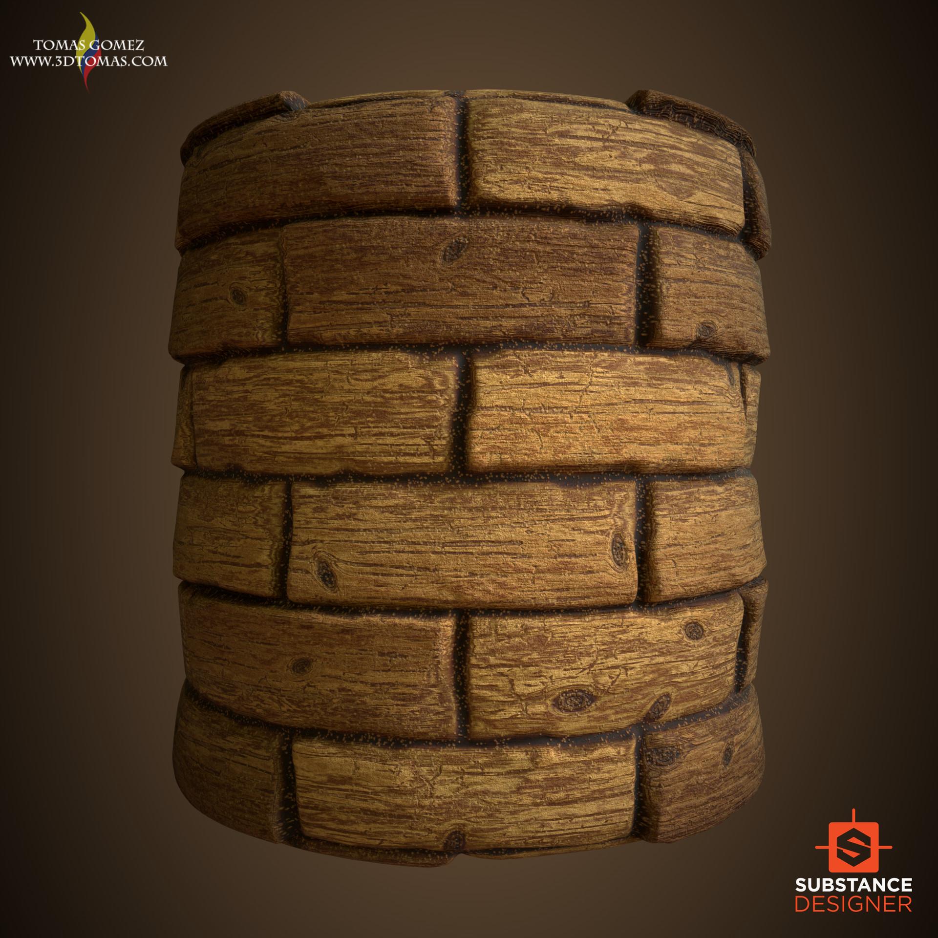 Tomas gomez wood render