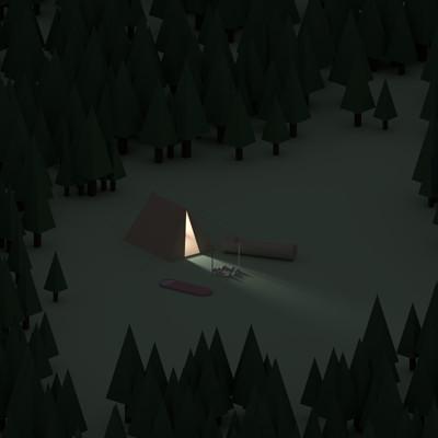Jan golicnik tent in forest