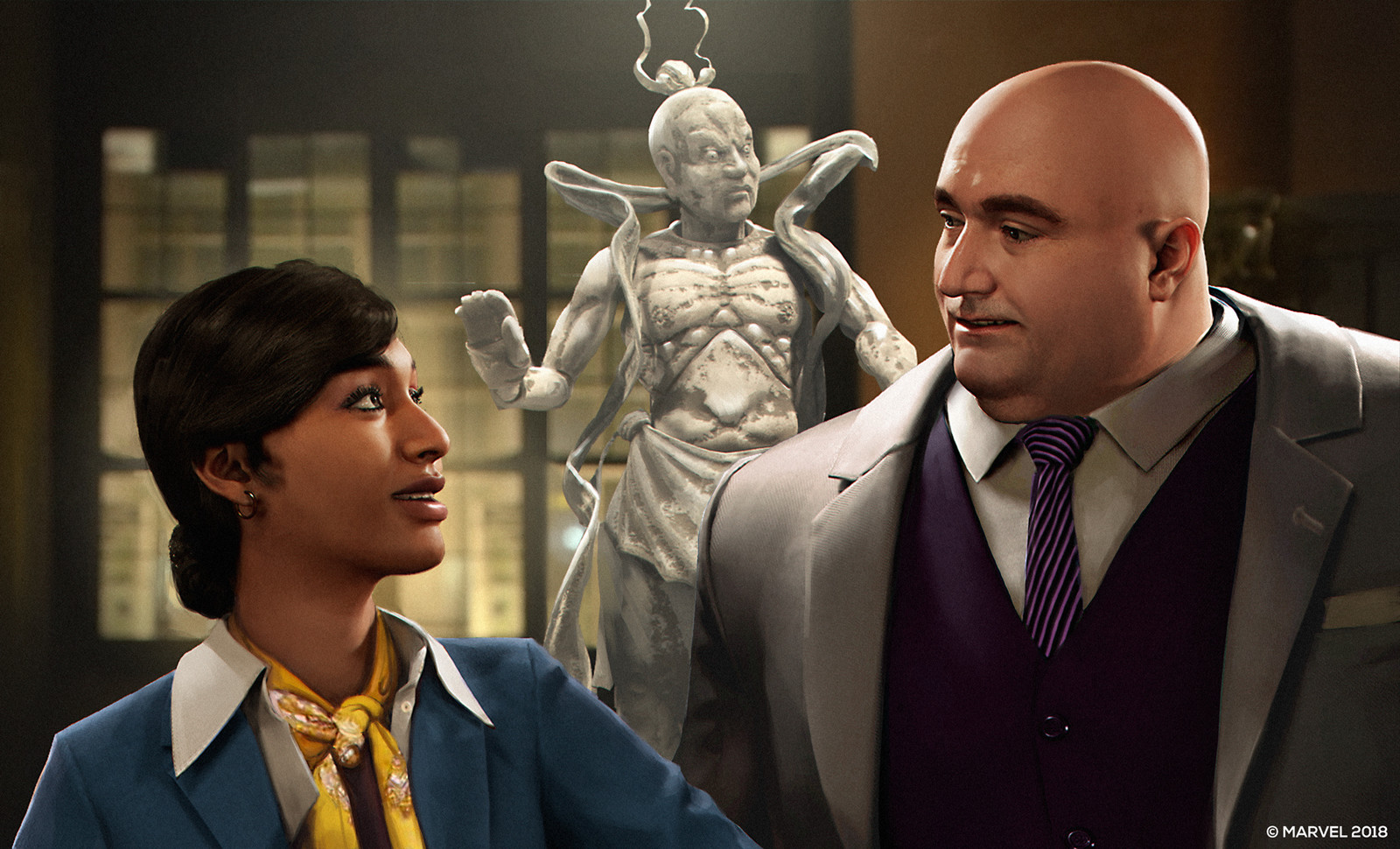 Wilson Fisk and the gallery owner