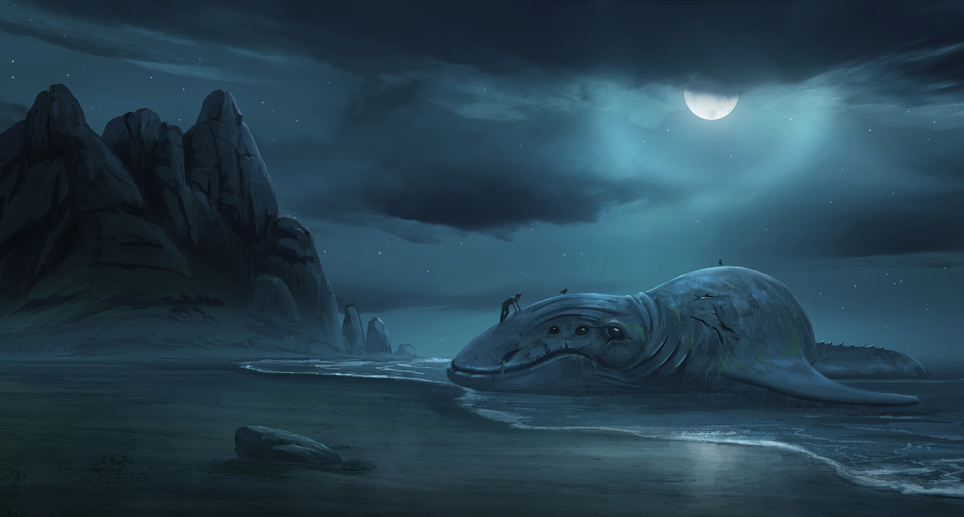 Surendra rajawat sea monster night