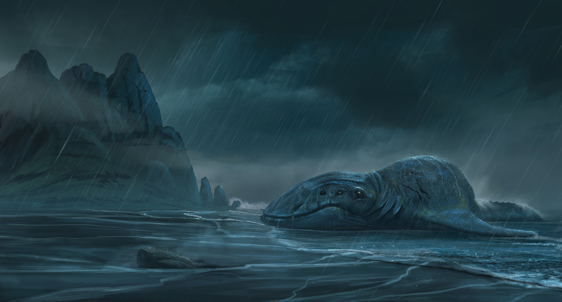 Surendra rajawat sea monster rain