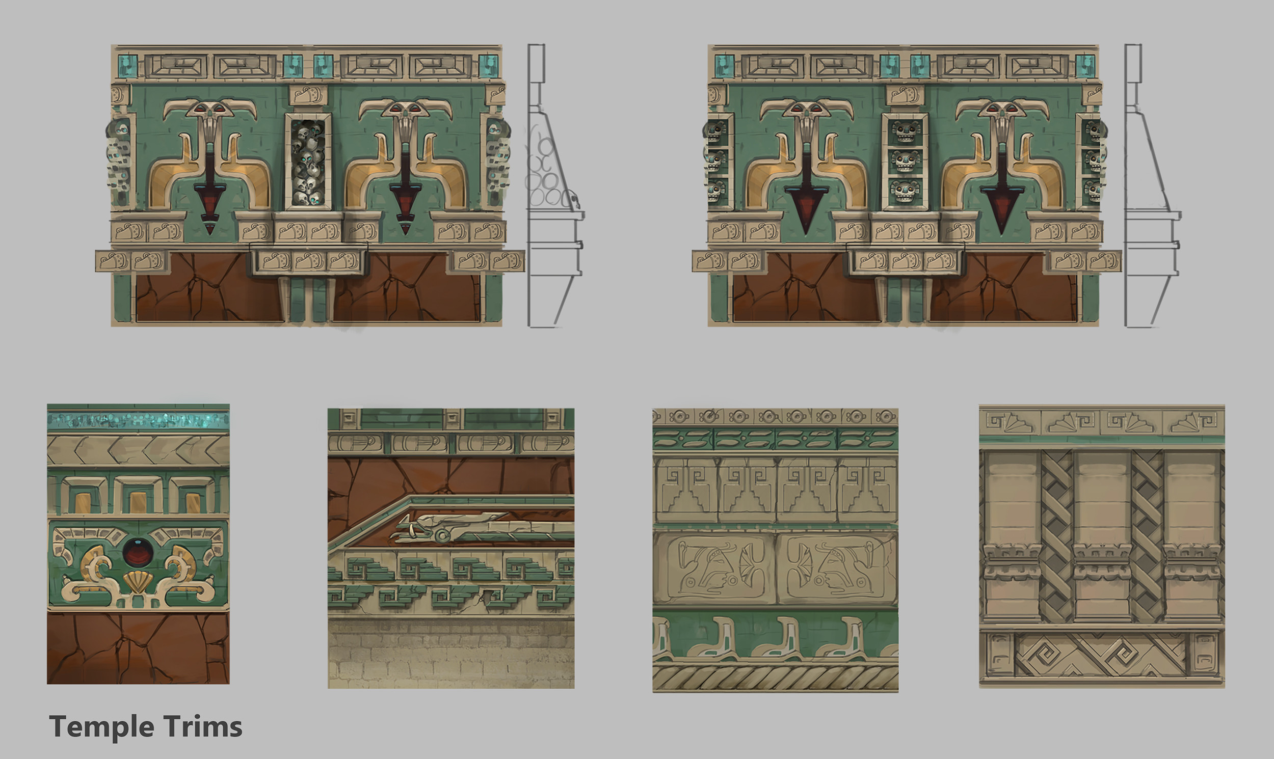 Temple wall trims 2
