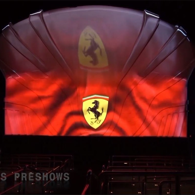 Ferrari PortAventura display