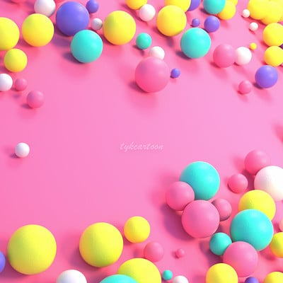 Tzuyu kao artstation sweet colorful balls pn the floor 0904ss