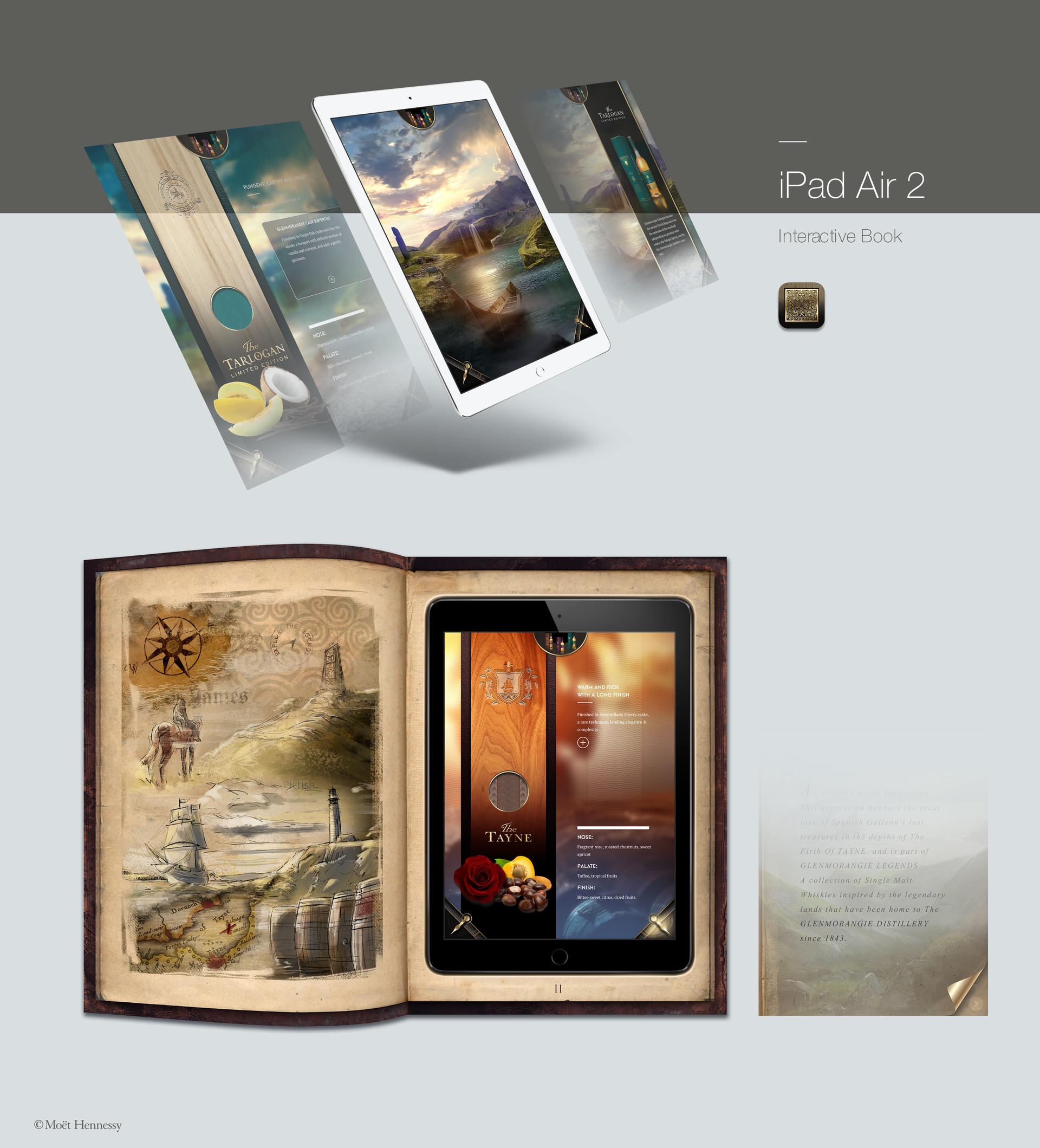 iPad in a book