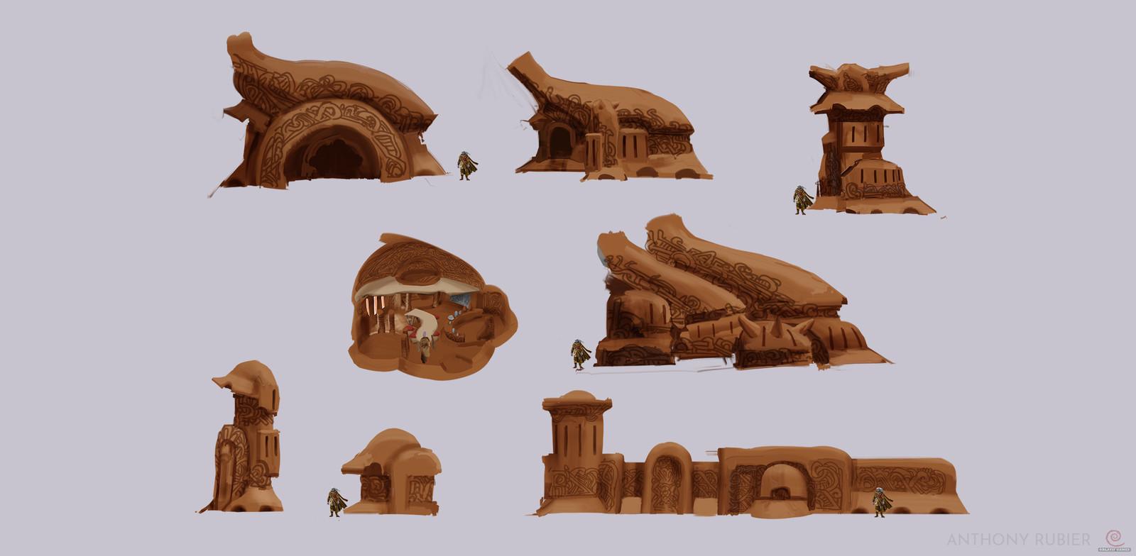 Village buildings concepts