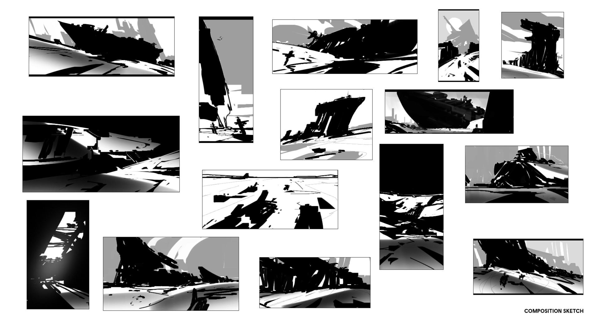 Sathish kumar composition sketches ship