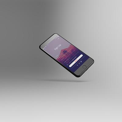 Mark arceo tilted iphone 8 mockup
